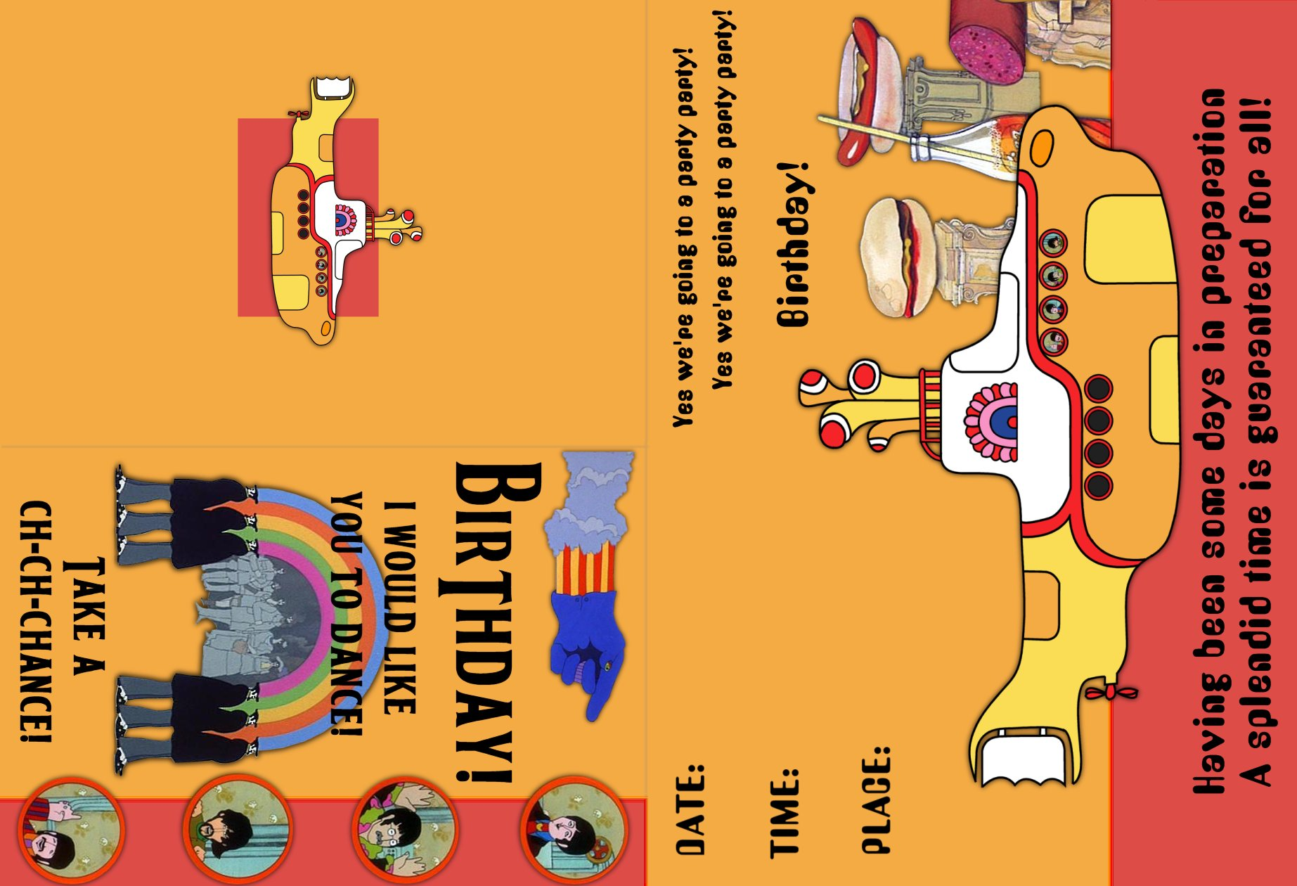 The Beatles Yellow Submarine – Beatles Birthday Cards